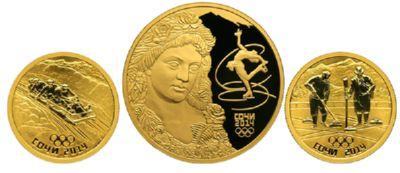 Монеты всё из той же серии сочи 2014